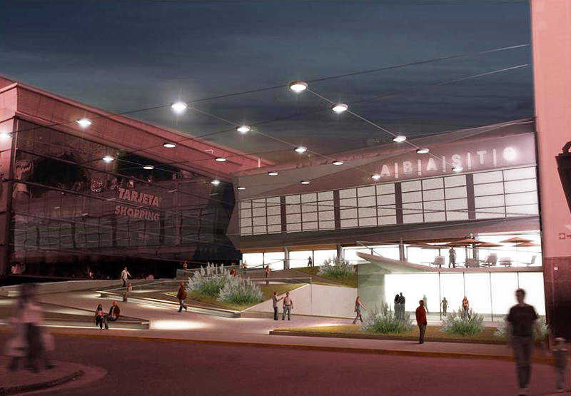 Nuevos accesos abasto shopping busnelli arquitectura for Accesos arquitectura