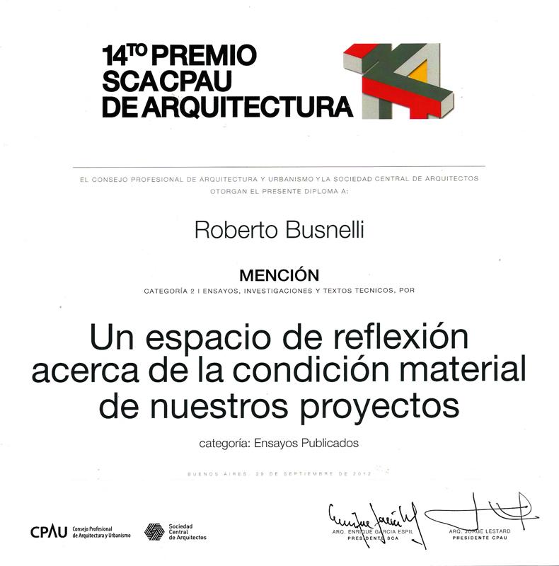 Premio SCA CPAU 2012